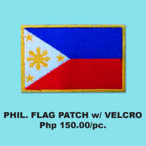 PHIL FLAG PATCH with VELCRO