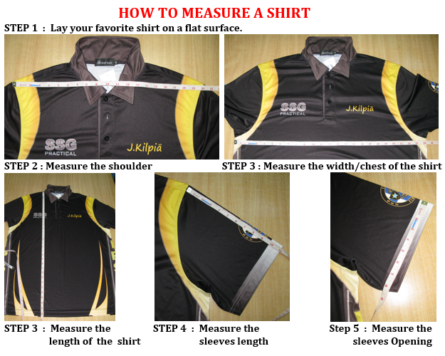 SHIRTS - how to measure (guides)