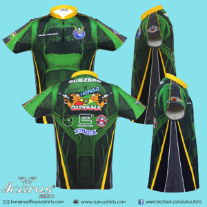 Team Guyana Blue and Red Dry Fit Dye Sublimation Shirt