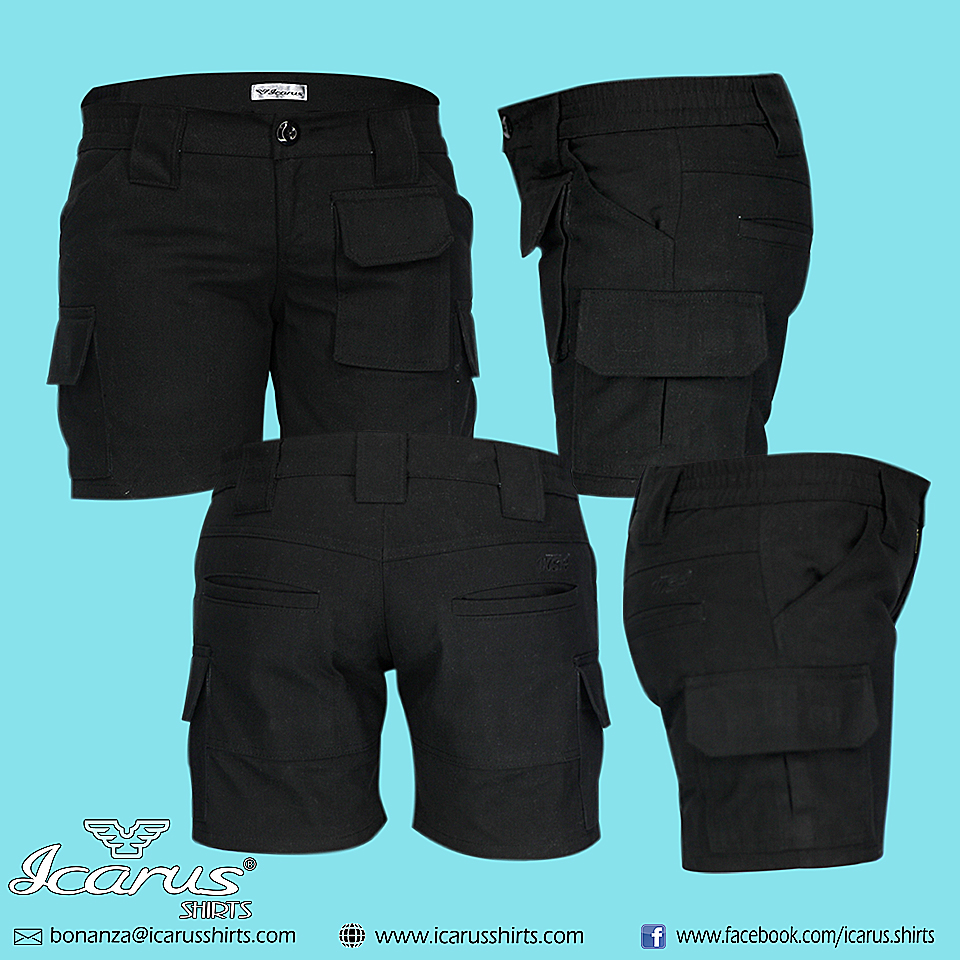 Ladies Cargo Shorts - Icarus Shirts