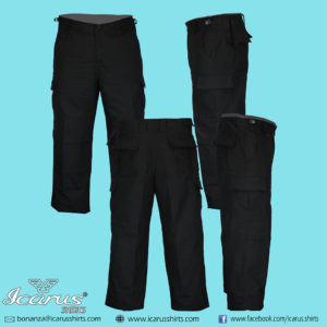 BLACK PANTS RIPSTOPS FABRIC 1