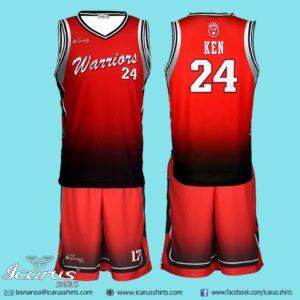 Warrior Basketball Uniform dry fit sublimation