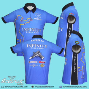 Infinity Open Face Gun dry fit sublimation shirt
