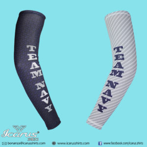 Team Navy Compression Arm Sleeves