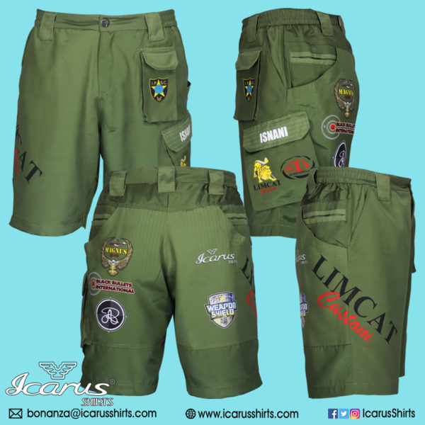 LIMCAT Green Subli Shorts – 0