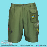 LIMCAT Green Subli Shorts - 1