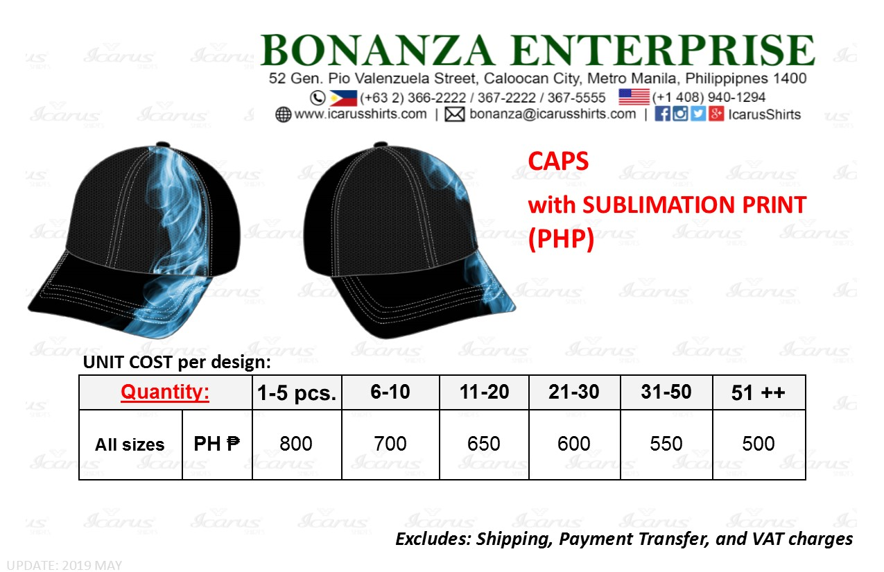 Caps - Sublimation - PHP