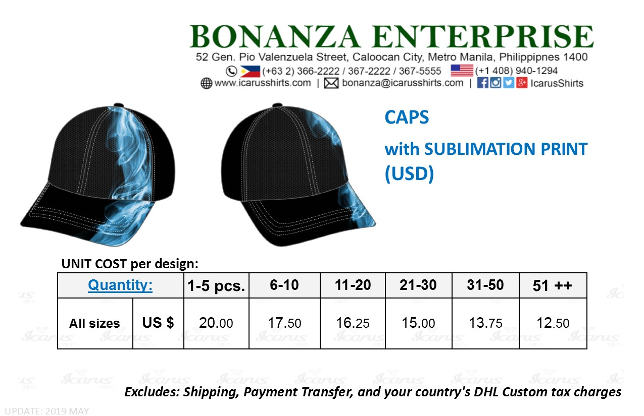Caps - Sublimation - USD