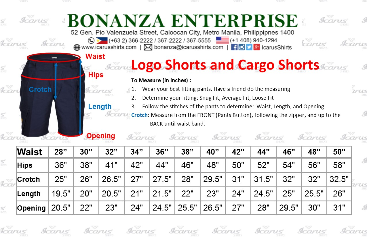 SHORTS MEASUREMENTS GUIDE
