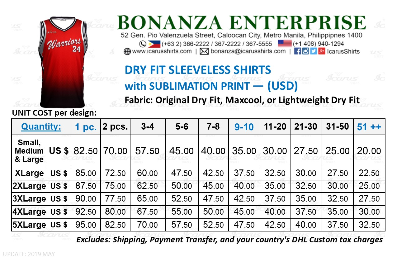 Sleeveless Dry Fit - USD