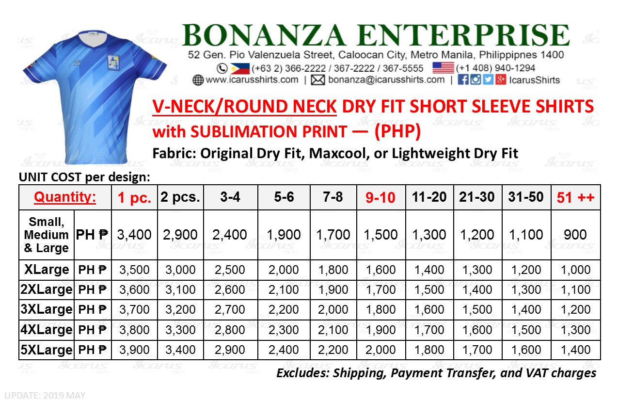 VNeck Dry Fit Shirt - PHP