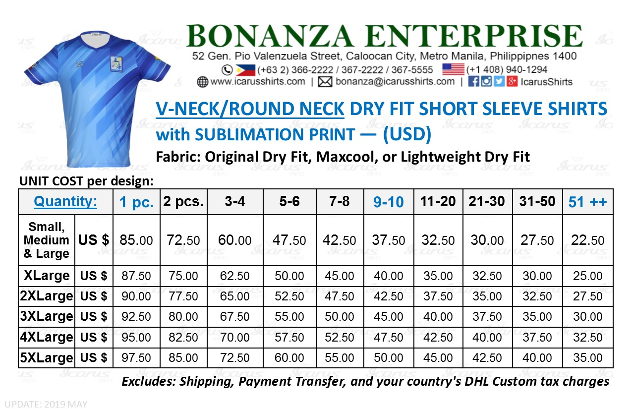 VNeck Dry Fit Shirt - USD