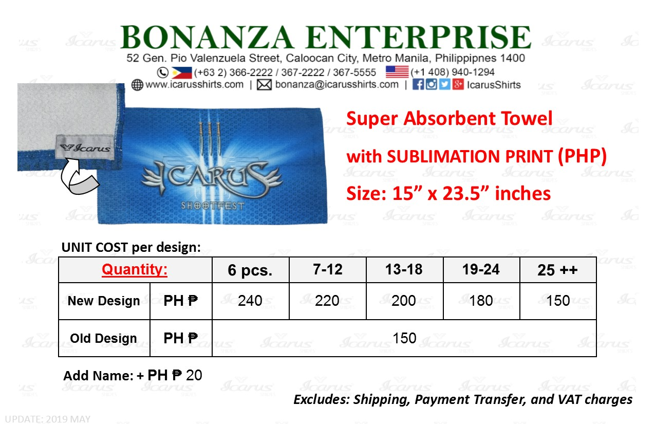 Towel - Sublimation - Size & PHP