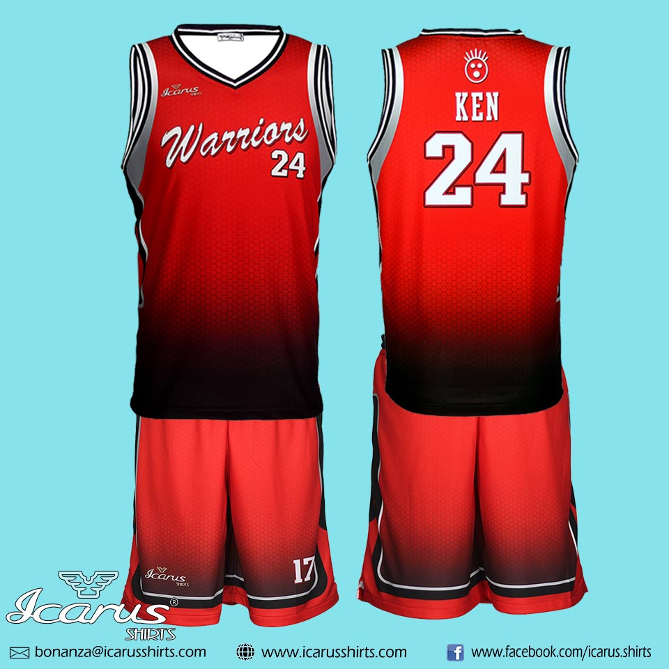 wholesale dealer 721bb b3da0 Warriors Basketball Jersey & Shorts   Icarus Shirts